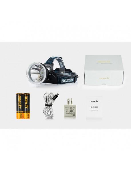 BORUIT B10 XM-L2 LED 3-Mode 1200 lumens Headlamp with Plug Charger (2 x 18650 )