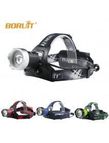 BORUIT B13 L2 LED 3-Mode 1200 lumens Headlamp with Plug Charger (2 x 18650 )