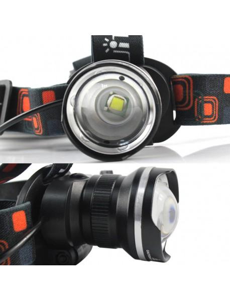 BORUIT RJ-2166 T6 LED 3-Mode 1000 lumens Headlamp (3 x AAA)