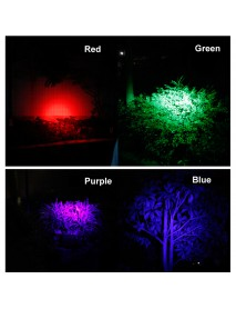 BORUIT RJ-3000 Color light Series 1 x T6 + 2 x R2 Purple LED 3-Mode 1000 lumens Headlamp with Plug Charger (2  x 18650 )