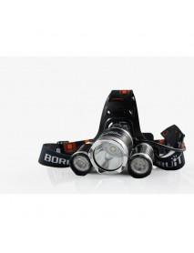 BORUIT RJ-3000 1 x XM-L2 + 2 x R2 LED 4-Mode 2400 lumens Headlamp with Plug Charger (2  x 18650 )