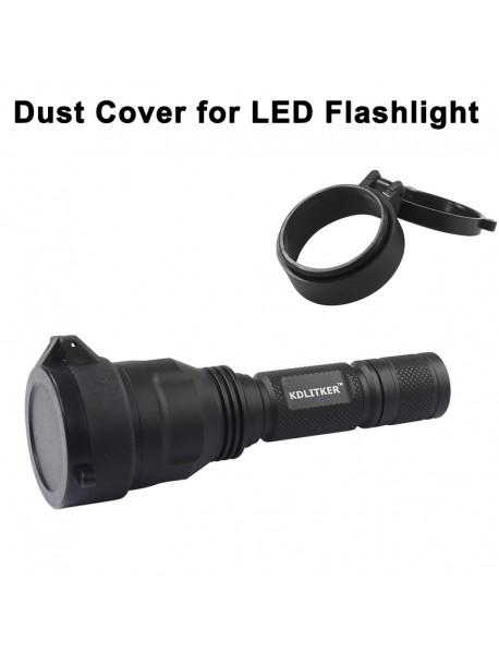 KDC Dust Cover for LED Flashlight - Black (Inner Dia. 25.5mm to 69mm )