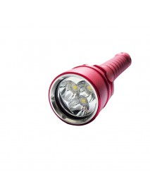 Cree XM-L2 U2 LED Stepless Dimming 1200 Lumens Diving Flashlight (2 x18650)-Red