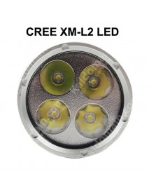 D170 4 x Cree XM-L2 White 6500K 4000 Lumens Stepless Adjusted Diving LED Flashlight - Black ( 2x26650 )