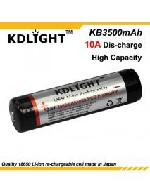 KDLIGHT KB3500mAh 3.6V 3500mAh Rechargeable Li-ion 18650 Battery with PCB