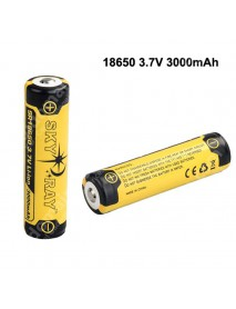 SKY RAY SR18650 3.7V 3000mAh Protected Rechargeable Li-ion 18650 Battery - 2 pcs