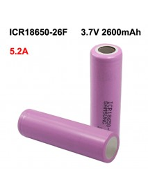 ICR18650-26F 3.7V 5.2A 2600mAh Rechargeable Li-ion 18650 Battery without PCB