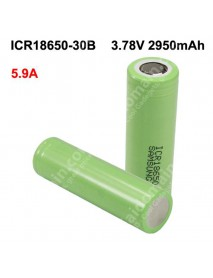 ICR18650-30B 3.78V 5.9A 2950mAh Rechargeable Li-ion 18650 Battery without PCB - 2 pcs
