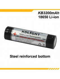KDLIGHT KB3200mAh 3.6V 3200mAh Rechargeable Li-ion 18650 Battery with PCB