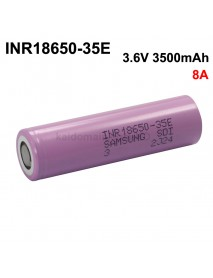 INR18650-35E 3.6V 3500mAh 8A Rechargeable Li-ion 18650 Battery without PCB