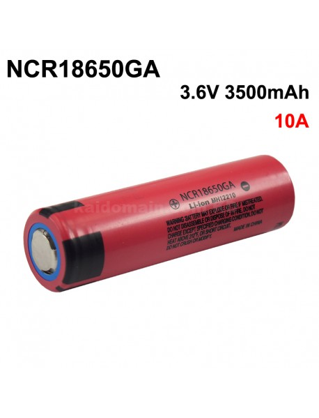 NCR18650GA 3.6V 3500mAh Rechargeable Li-ion 18650 Battery without PCB - 1 pc