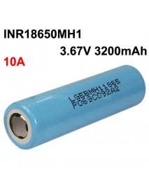 INR18650MH1 3.67V 10A 3200mAh Rechargeable Li-ion 18650 Battery without PCB - 1 pc