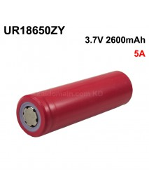 UR18650ZY 3.7V 5A 2600mAh Rechargeable Li-ion 18650 Battery without PCB - 1 pc