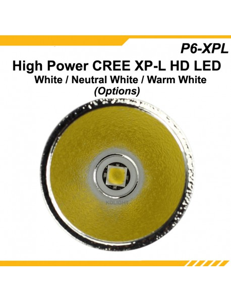 KDLITKER P6-XPLHD Cree XP-L HD 800 Lumens 3V - 9V P60 Drop-in