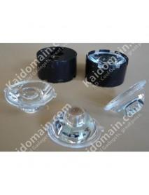 25mm 25 Degree LED Lens with White Lens Holder - 1pc
