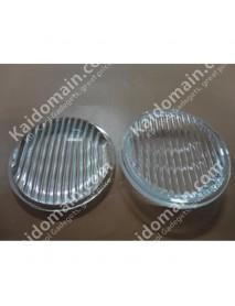69.3mm Stripe Optical Glass LED Lamp Lens - 1pc