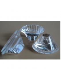 20mm LED Lamp Striped Glass Lens - 1pc