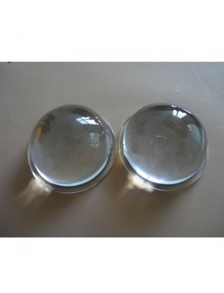 80mm Optical Glass LED Lamp Lens - 1pc