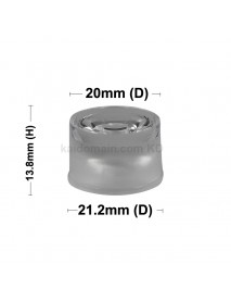 21.2mm x 13.8mm 30-Degree / 120-Degree Acrylic Lens ( 5 pcs )