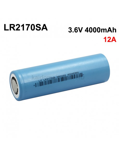 LS LR2170SA 3.6V 12A 4000mAh Rechargeable Li-ion 21700 Battery without PCB