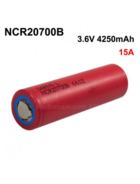 NCR20700B 3.6V 15A 4250mAh Rechargeable Li-ion 20700 Li-ion Battery without PCB