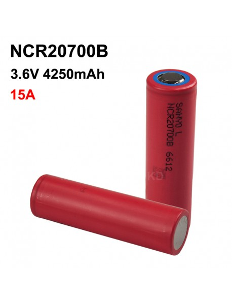 NCR20700B 3.6V 15A 4250mAh Rechargeable Li-ion 20700 Battery without PCB