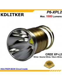 KDLITKER P6-XPL2HD Cree XP-L2 HD  1000 Lumens 3V - 9V  P60 Drop-in