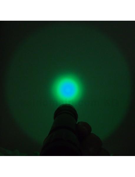 501B Cree XP-E2 Green 530nm 3V - 4.5V OP P60 LED Flashlight - Black ( 1x18650  )