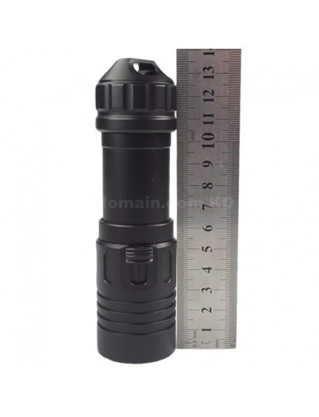 D186 Cree XM-L2 U2 1200 Lumens Diving LED Flashlight - Black (1 x 26650)