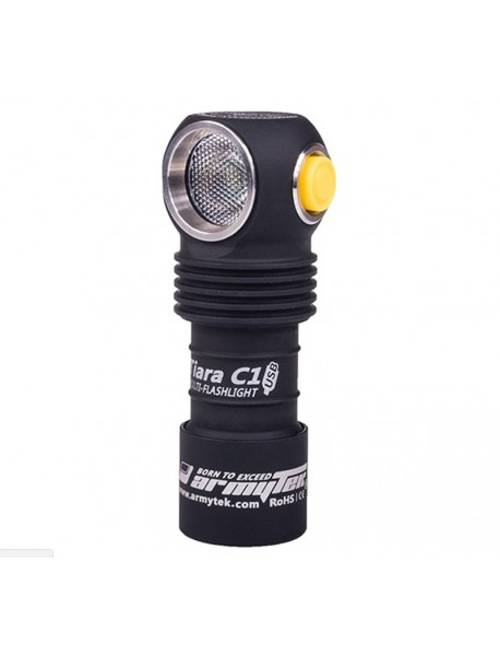 Armytek Tiara C1 Cree XP-L White 1050 Lumens 6-Mode Magnet USB LED Flashlight (1 x 18350)