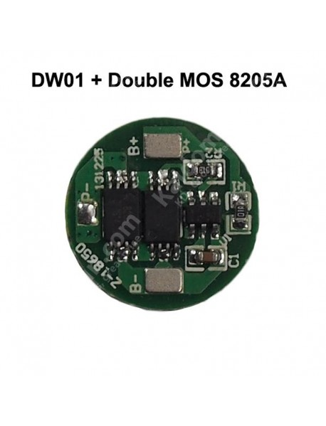 Z-18650 Protection Circuit Module (PCB) Round for Li-ion Battery 16340 17670 18650 Battery ( 2 pcs )