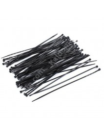 200mm(L) x 2.5mm(W) Nylon Cable Ties - Black (20 pcs)