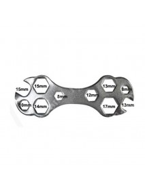Multi-functional Bike Hexagon Wrench Spanner Repair Tool - Silver (1 pc)