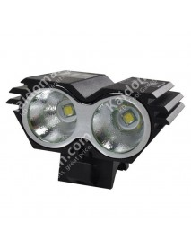 2 x Cree XM-L U2 LED 4-Mode 2200 Lumens Bike Light with Battery Pack and Charger