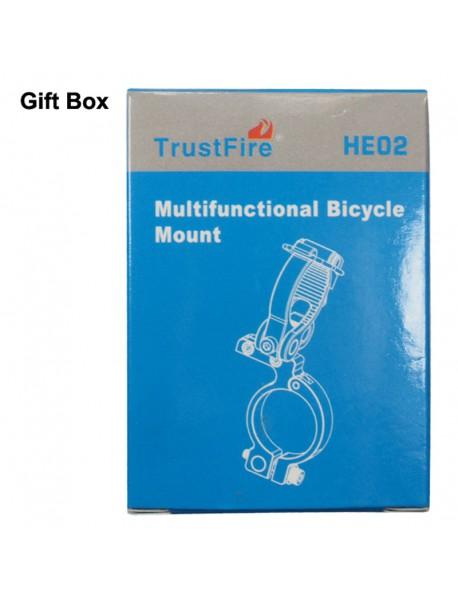 TrustFire HE02 Aluminium Alloy Bike Handlebar Light Mount for Flashlights
