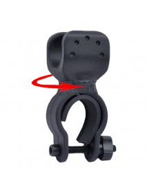 KBL-C26650 Bike Handlebar Light Mount for 26650 Flashlights - Black (1 pc)