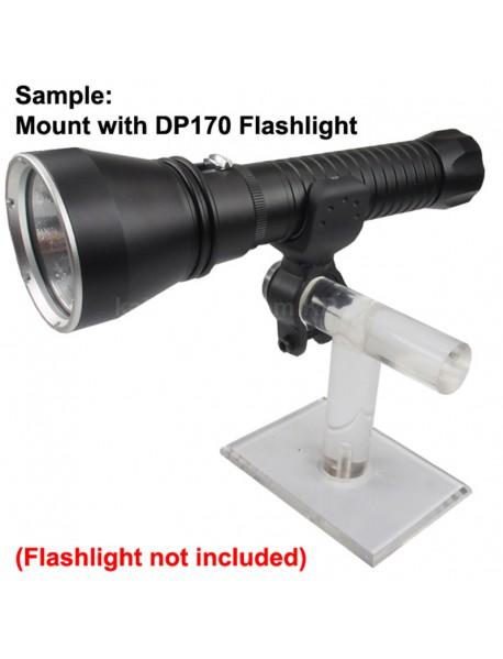 KBL-C26650 Bike Handlebar Light Mount for 26650 Flashlights - Black (1 pc)