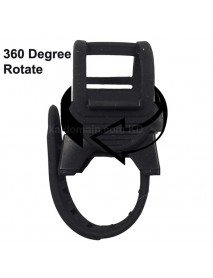 KBL-C7053 360 Degree Rotatable Bike Light Mount - Black (1 pc)