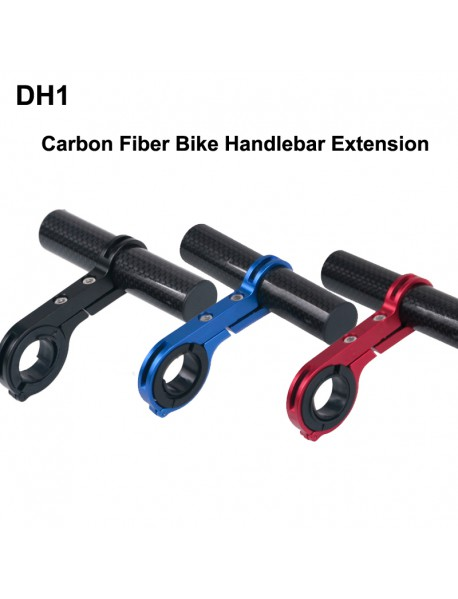 DH1 Carbon Fiber Bike Handlebar Extension Bike Light Mount ( 1 pc )