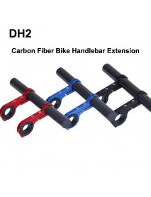 DH2 Carbon Fiber Bike Handlebar Extension Bike Light Mount ( 1 pc )