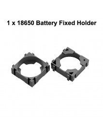 DIY 1 / 2 / 3 x 18650 Battery Fixed Holder - Black ( 10 pcs )