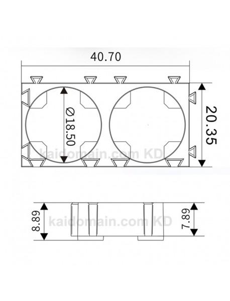 DIY 1 / 2 / 3 x 18650 Battery Fixed Holder - Black ( 10 pcs )