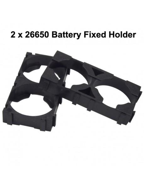 DIY  2 / 3 x 26650 Battery Fixed Holder - Black ( 10 pcs )