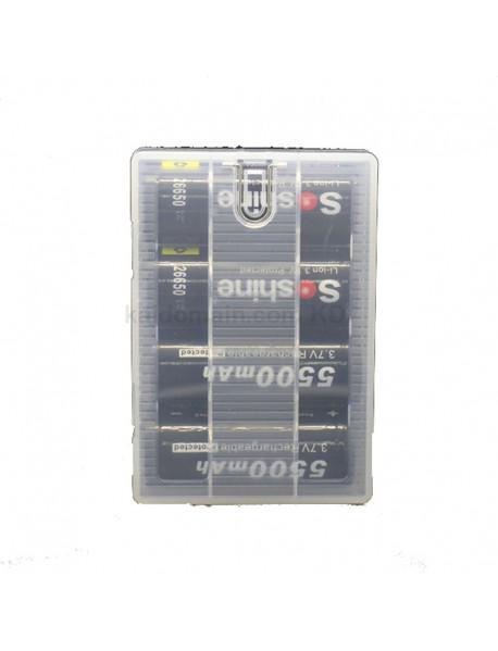 Soshine SBC-021 Plastic Battery Case for 1-4 pcs 26650 Battery - Transparent (1pc)