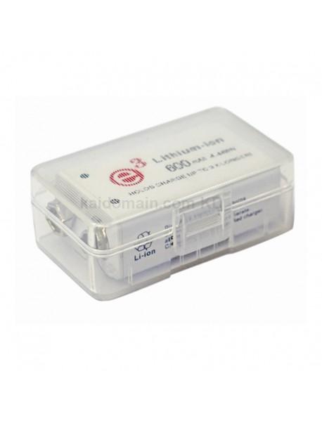 Soshine SBC-020 Plastic Battery Case for 1 pc 9V Battery - Transparent (1 pc)