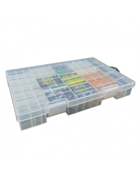 KBC001 Plastic(PP) Battery Case for AA/AAA/C/D/9V Battery - Transparent (1 pc)