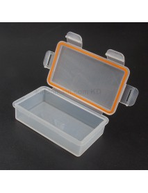 2x18650P Waterproof Battery Storage Box for 2x18650 / 4xCR123A - Transparent (1 pc)