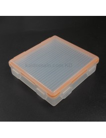 4x18650P Waterproof Battery Storage Box for 4x18650 / 8xCR123A - Transparent (1 pc)
