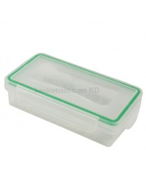 2x18650G Waterproof Battery Storage Box for 2x18650 / 4xCR123A - Transparent (1 pc)