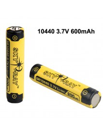 SKY RAY SR10440 3.7V 600mAh Protected Rechargeable   Li-ion 10440 Battery - 2 pcs